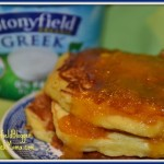 Peaches & Cream for the #StonyfieldGreek Pancake Challenge