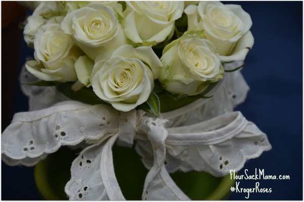white miniature roses