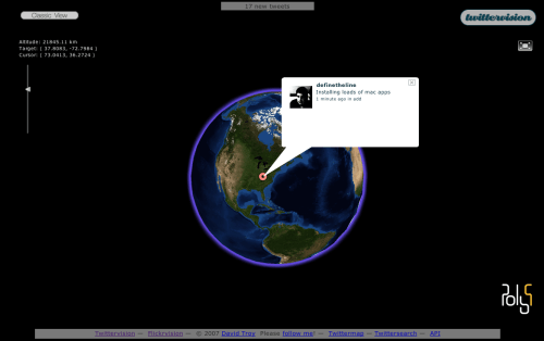 Twittervision 3D