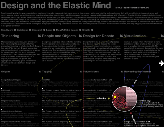 Design and the Elastic Mind Online Exhibition
