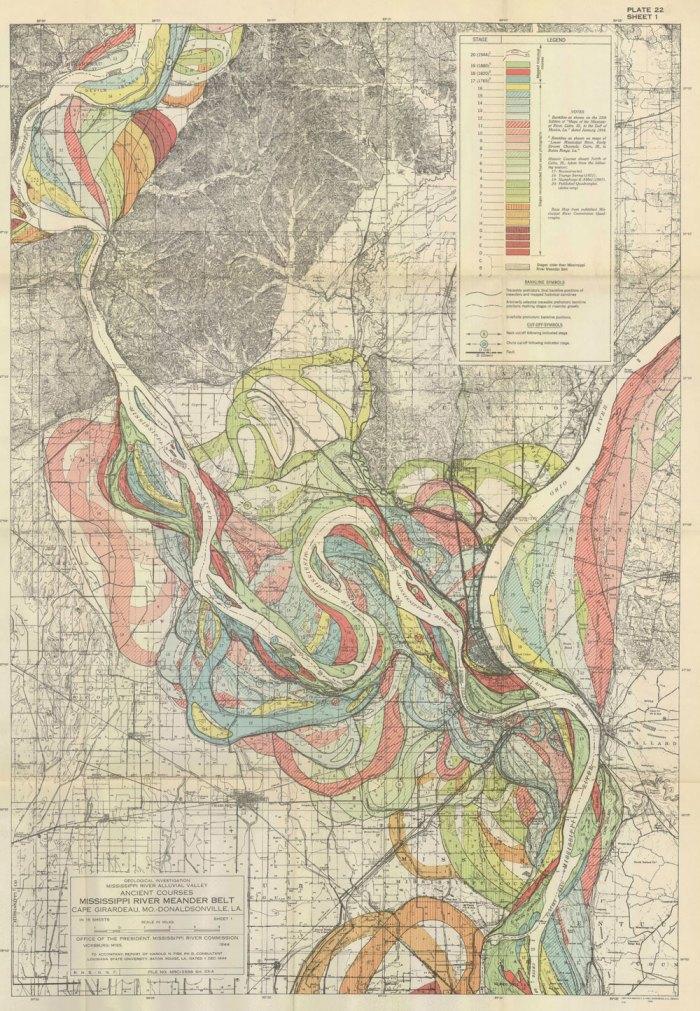 Evolution of the Mississippi River