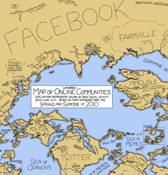 Map of online communities