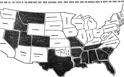 First NYT election map in 1896