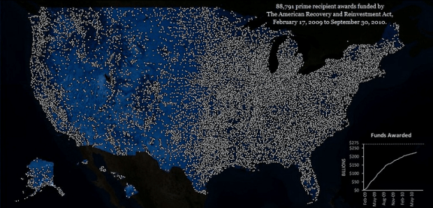 Lights-on Map for Recovery Act