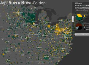 Superbowl fanmap