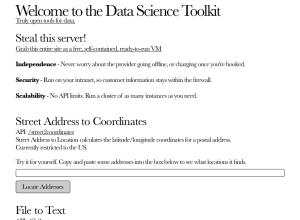 Data Science Toolkit
