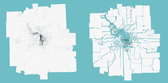 Kansas city divided