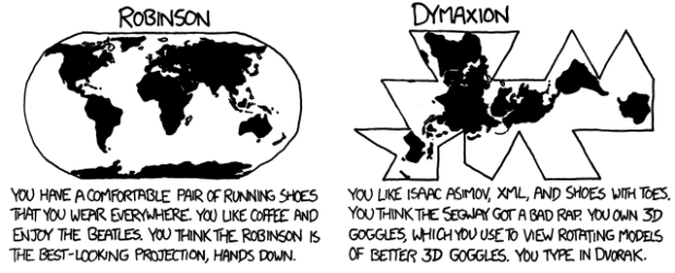 Map-projections