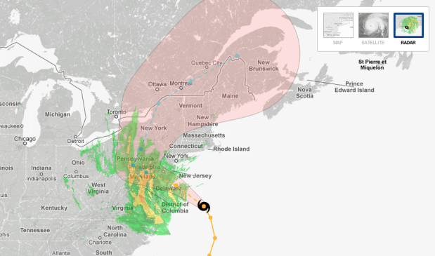 Hurricane tracker by New York Times