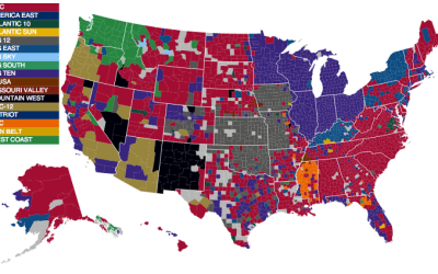 March Madness map