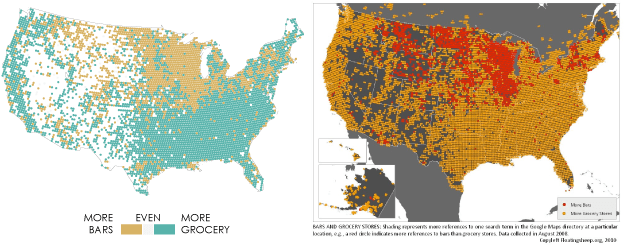 US bars vs grocery stores