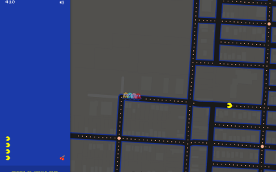 Pac-Man Google Maps