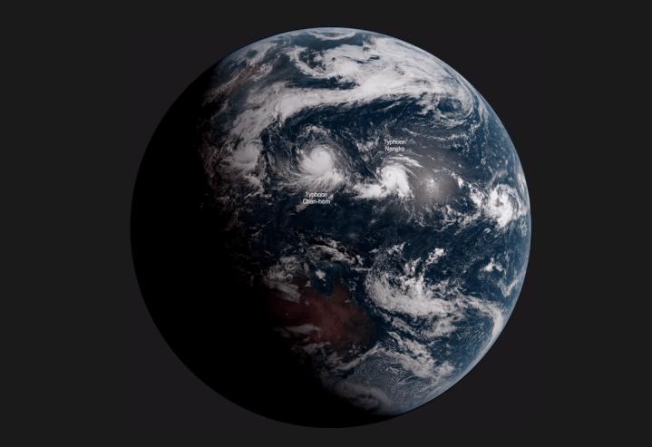 Satellite captures
