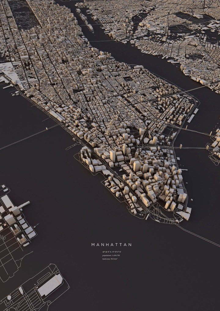 City layouts in 3-D