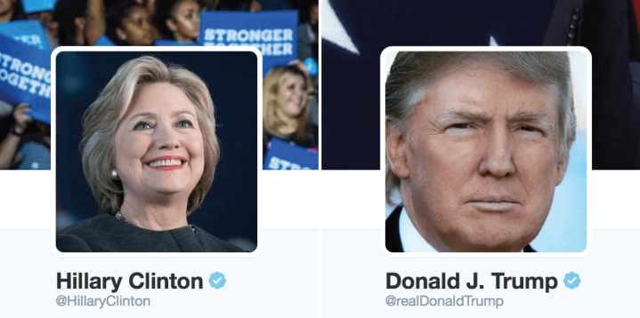 Trump Clinton Tweets