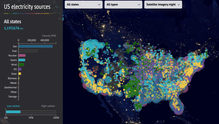 US Electricity Sources Map FlowingData - Us electricity map