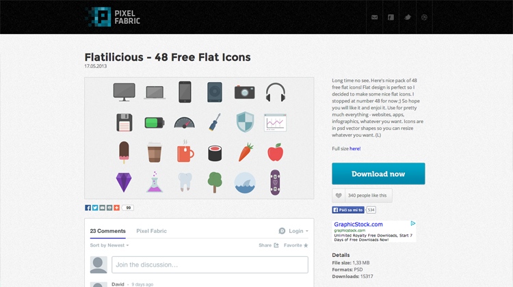A resource of flat icons.