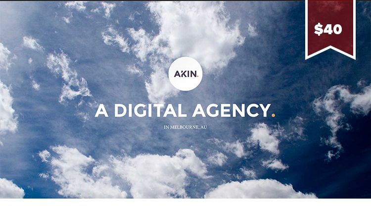 Akin WordPress Theme a flat ui design WordPress theme