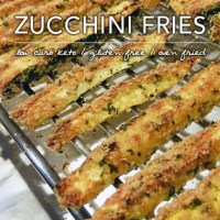 Low Carb Fried Zucchini - Fries and Chips