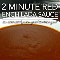 2 Minute Red Enchilada Sauce - Low Carb Keto|Grain Free|Gluten Free