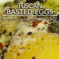 Egg Fast Recipe - Tuscan Basted Eggs - Low Carb Keto & Gluten Free