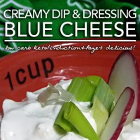 Creamy Blue Cheese Dressing - Low Carb Keto Nom!