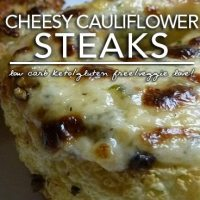Roasted Cheesy Cauliflower Steaks - Low Carb Side Dish Love
