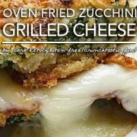 Crunchy Low Carb Fried Zucchini Grilled Cheese - Gluten Free