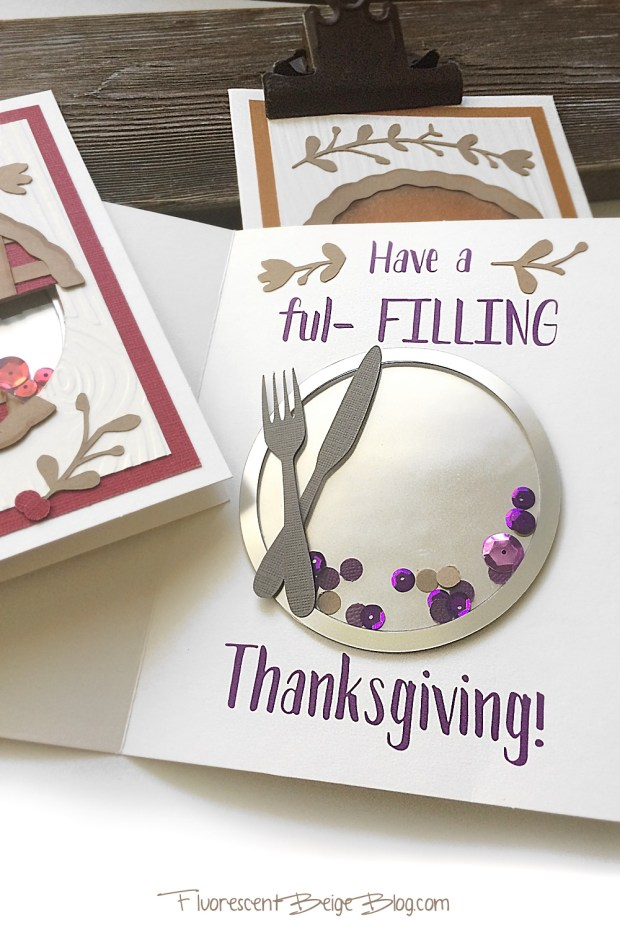 Simple Pie Tin Shaker Card #papercraft