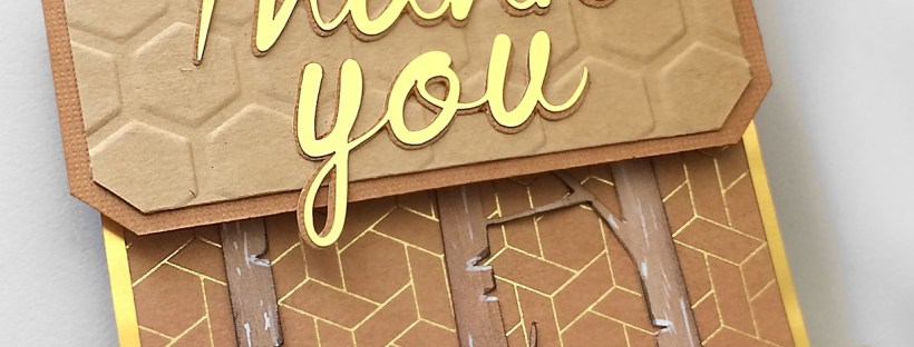 Fall Inspired Thank You Tag Gold Closeup