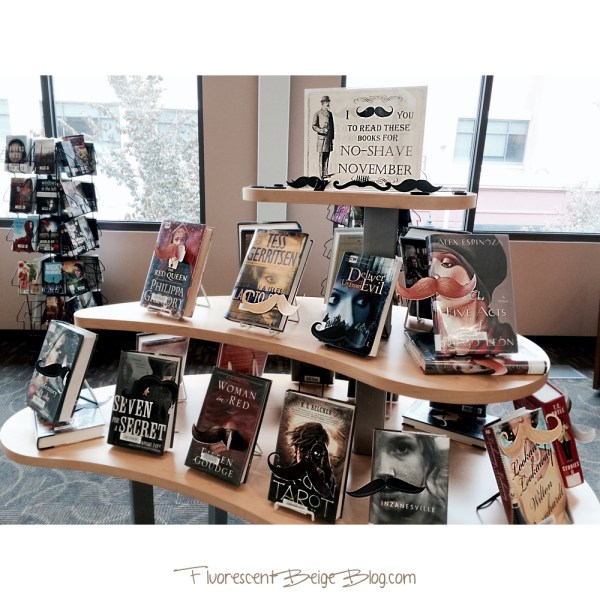 I Mustache You To Read These Books Library Display