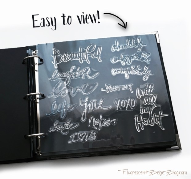 Stamp Binder Easy to View