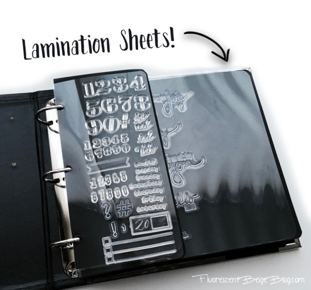 Stamp Binder Lamination Sheets