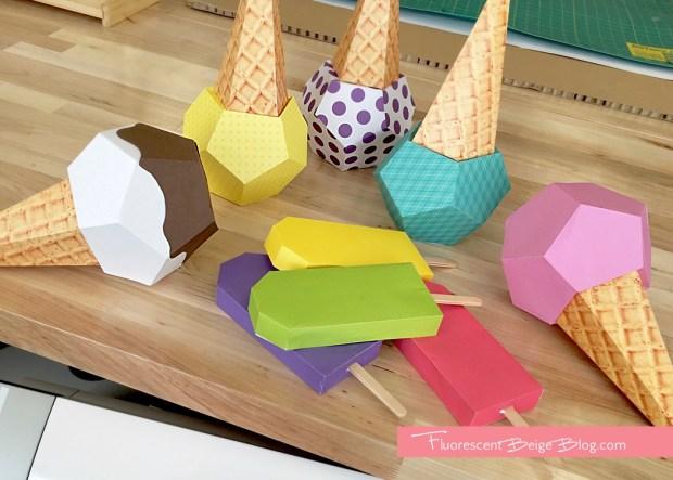 Paper Ice Cream Cone Varieties