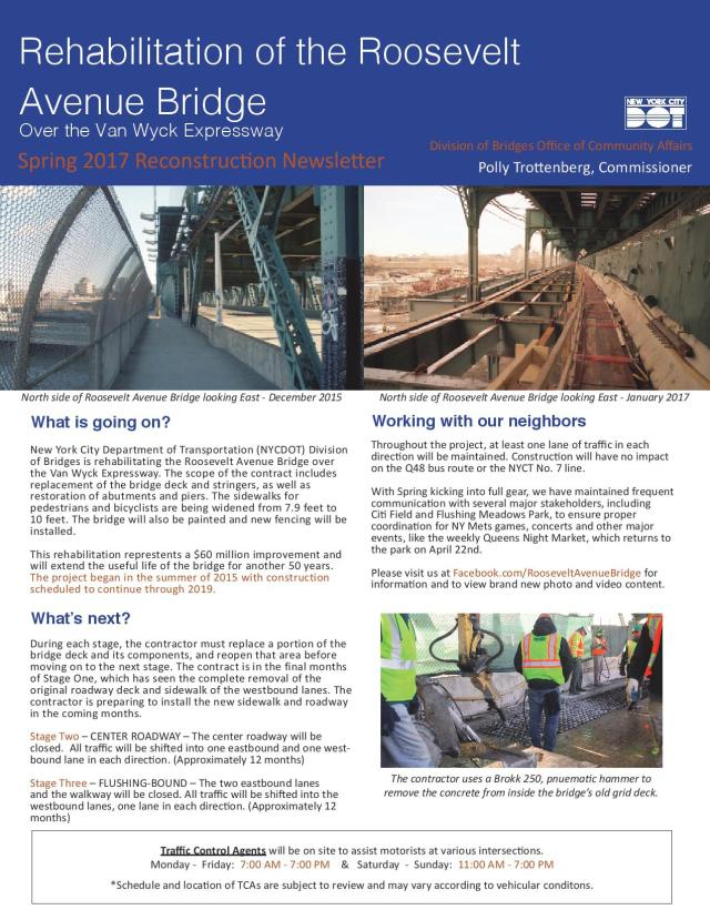 Roosevelt Avenue Bridge Spring 2017 Newsletter-page-001