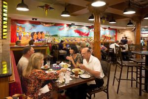 The dining room at La Gloria