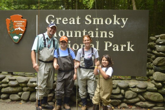 Fly Fishing Guides in the Great Smoky Mountains near Gatlinburg Pigeon Forge and Sevierville