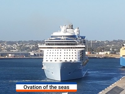 Ovation of the seas with caption