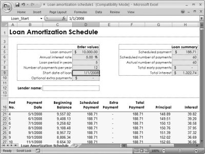 Excel Loan Amortization Template 2007 - download free microsoft excel templates for loan and ...