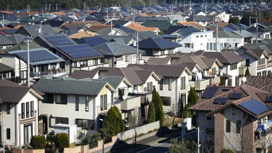 Houses in Inzai, Chiba Prefecture, Japan