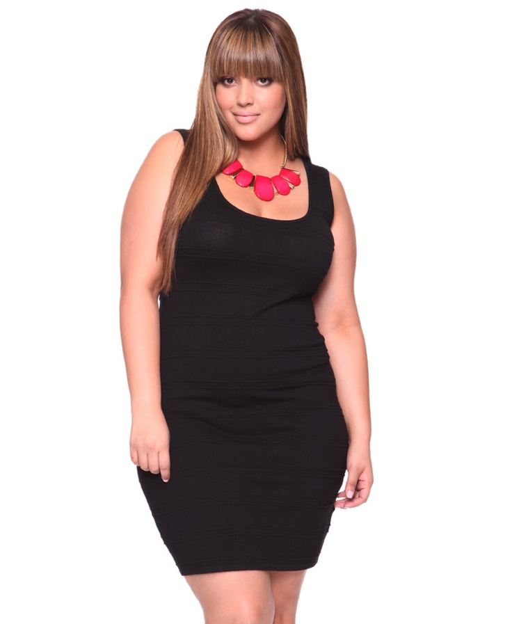 Bodycon Plus Size Dress With Stripes Fmag Com