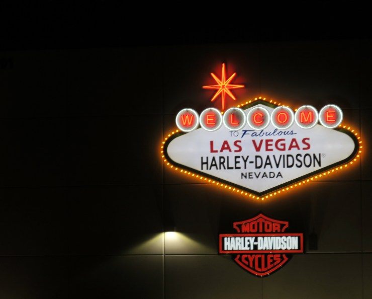 """The """"Welcome to Fabulous Las Vegas Harley-Davidson Nevada"""" Sign"""