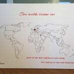 Fertige Weltkarte