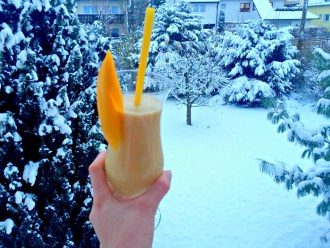 Smoothie im Winter