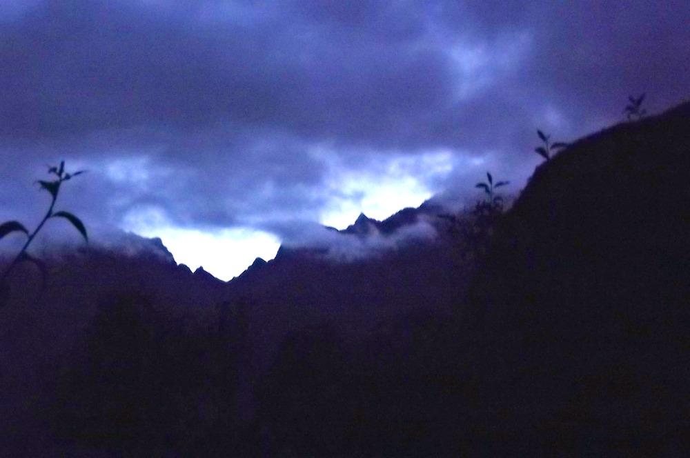 Machu Picchu in Peru bei Nacht