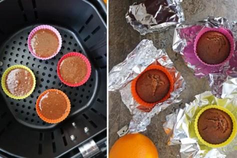 Air Fryer Chocolate Orange Cupcakes Pic