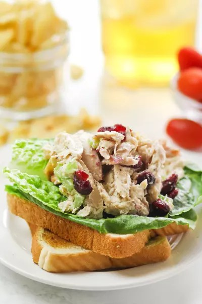 Lighter Chicken Salad Image