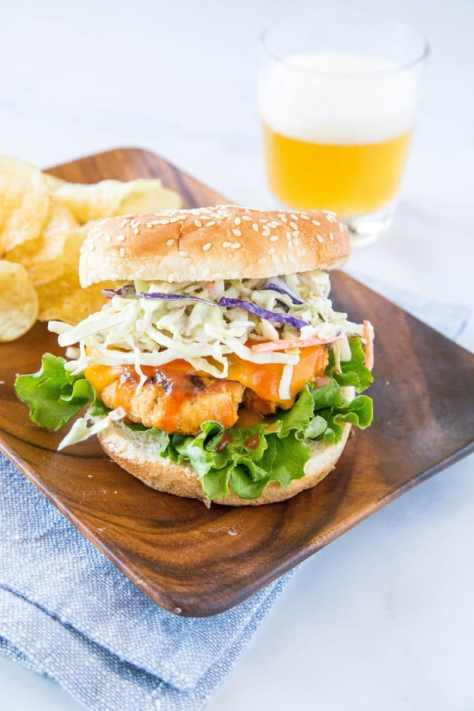 Buffalo Chicken Burger Image