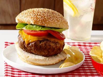 Perfect Beef Burgers Recipe | Food Network Kitchen | Food Network