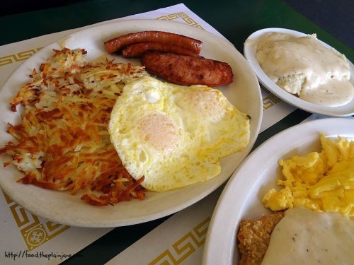 kielbasa and eggs breakfast - lemon grove deli - san diego, ca